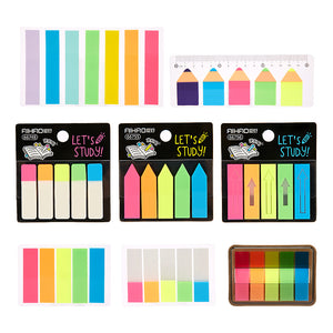 8pcs Fluorescent Transparent Sticky Note