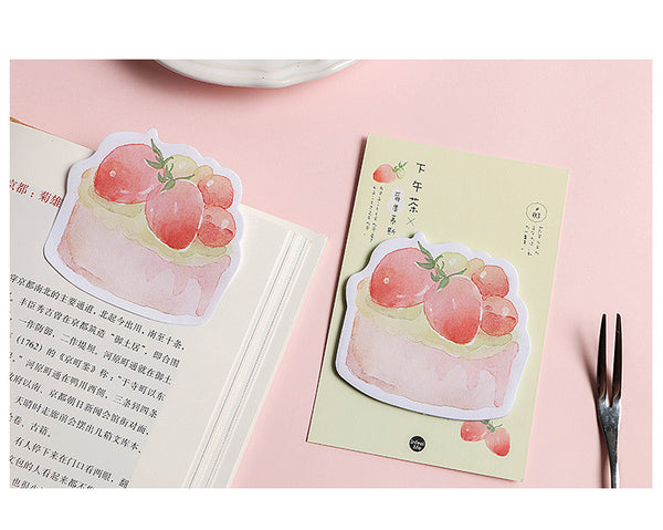 4pcs Afternoon Tea Sticky Note