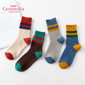 4 Pairs Athletic Casual Gift Female Socks KINIYO Stationery