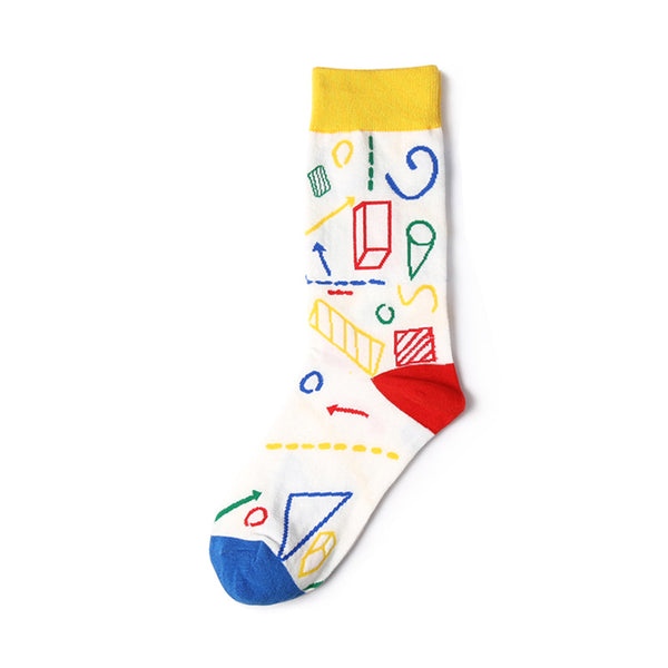 1 Pair Harajuku Style Scrawl Cotton Socks KINIYO Stationery