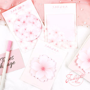3pcs Cherry blossoms Series Sticky Note