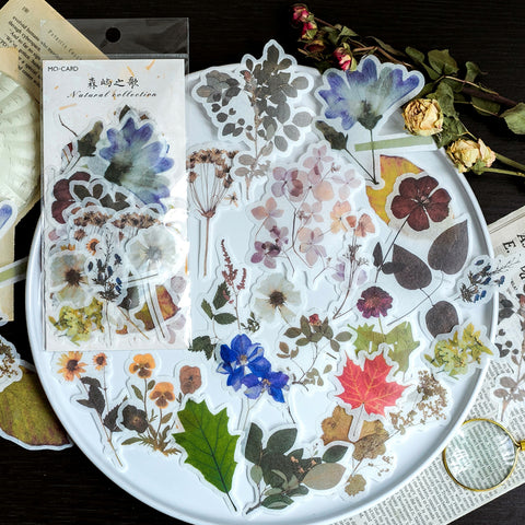 60pcs Floral Sticker Set