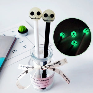 2pcs 0.5mm Luminous Skull Gel Pen KINIYO Stationery
