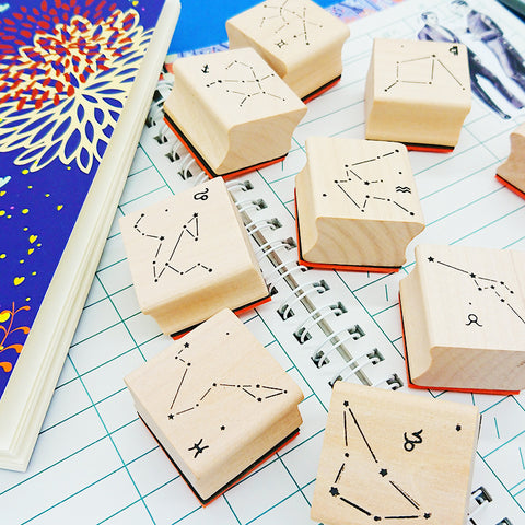 1 Piece Wood Constellation Stamp KINIYO Stationery