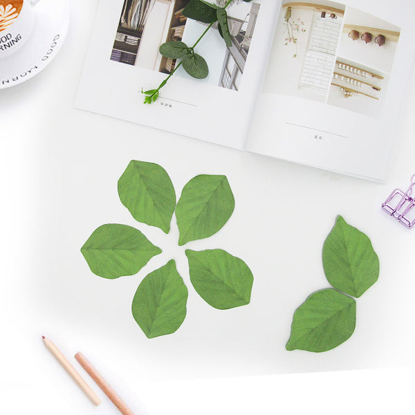 1 Piece Artificial Leaf Sticky Note KINIYO Stationery