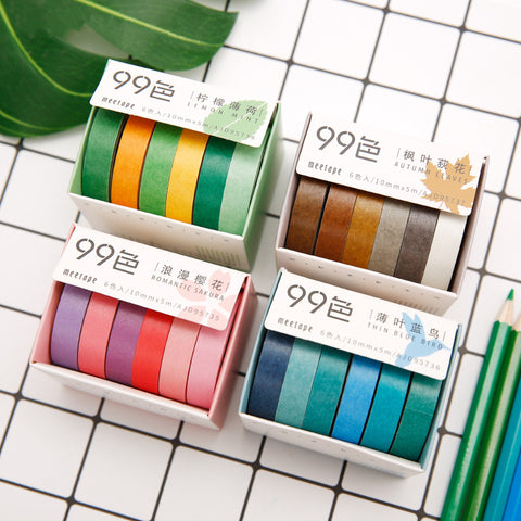 6pcs Colorful DIY Decoration Tapes