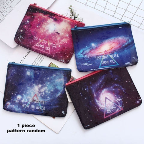 1 Piece Galaxy Zipper File Organizer KINIYO Stationery