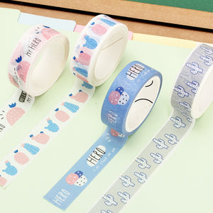 1 Piece Morocco Cactus Washi Tape KINIYO Stationery