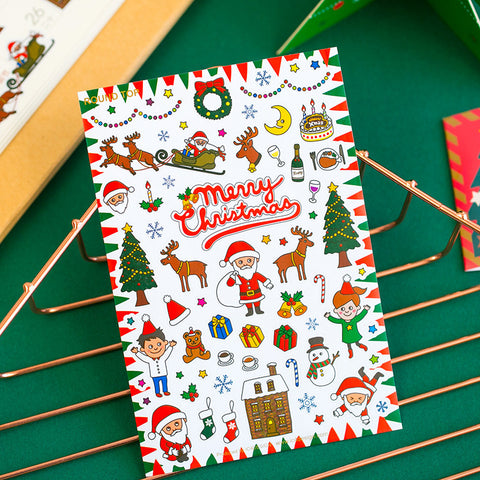 1 Piece Christmas DIY Decoration Sticker KINIYO Stationery