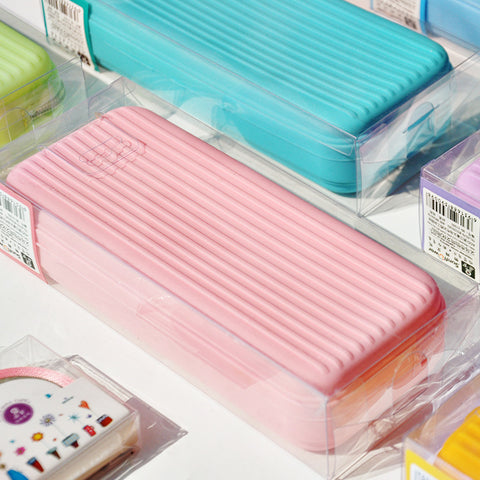 Large Capacity Candy-colored Silicone Pen Pencil Case