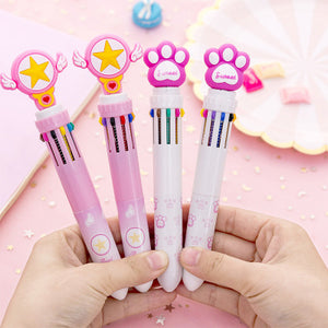 1 Piece 10 Colors Lovely Ball Point Pen KINIYO Stationery