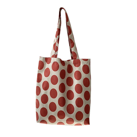 Casual Dot Canvas Shoulder Bag