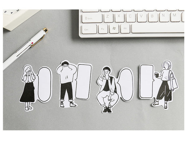 4pcs Life Mood Sticky Note