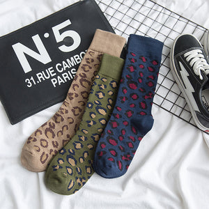 1 Pair Chic Pantherine Cotton Socks KINIYO Stationery