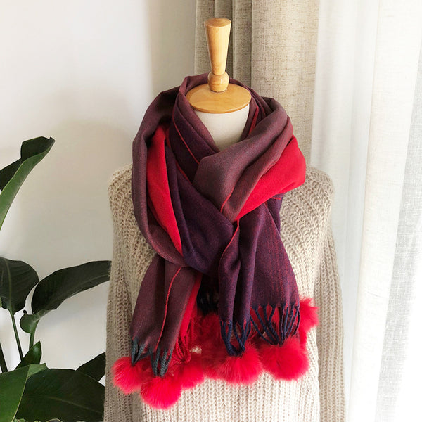 Cashmere Angora Ball Warm Shawl Scarf