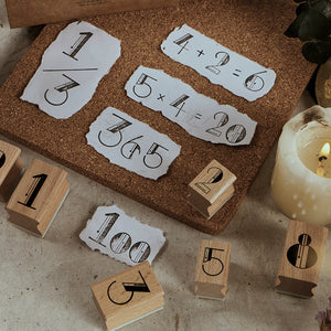 Number/Month Deco Wooden Stamp+stationary2