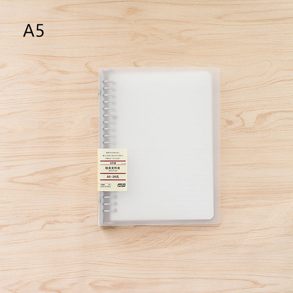 1 Piece A4/A5/B5 PP Loose-leaf Folder with Others KINIYO Stationery