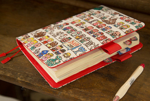A6 Creative Cartoon PU Cover Planner Notebook Paper kiniyo stationary 4176p