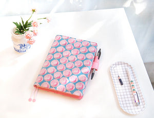 A6 Creative Cartoon PU Cover Planner Notebook Paper kiniyo stationary 4195p