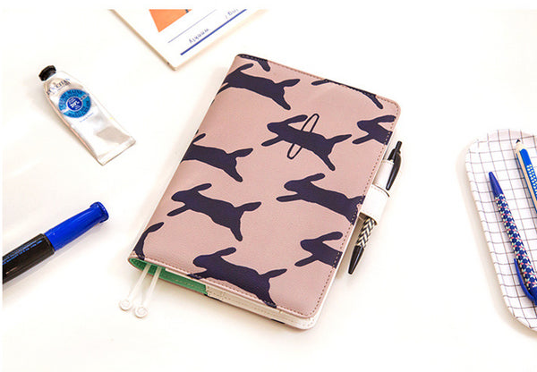 A6 Creative Cartoon PU Cover Planner Notebook Paper kiniyo stationary 4199p