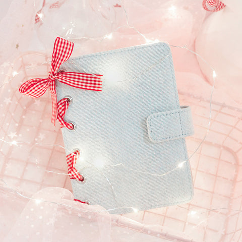 A6 Creative Girlish Design Pink Ribbon Planner Paper kiniyo stationary 4151p