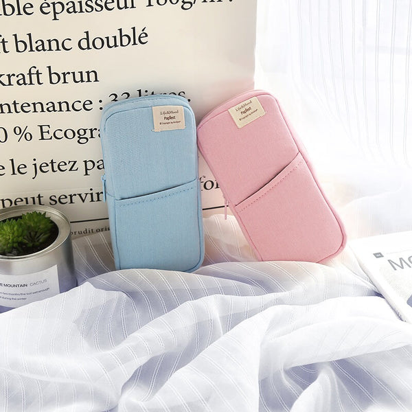 Bright Color Fabric Pen Case & Holder
