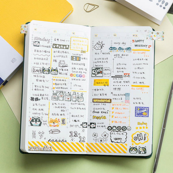 Cloth Cover Weekly Schedule Planner