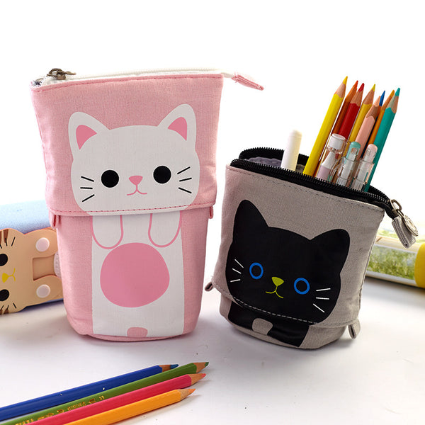 Colorful Portable Double Layer Pen Case & Holder Desktop Organizers kiniyo stationary 4310p