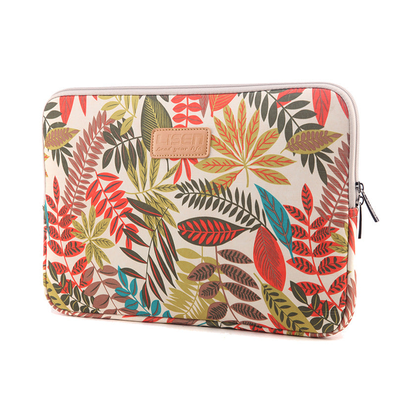 Colorful Leaves Shock Absorption Laptop Sleeve