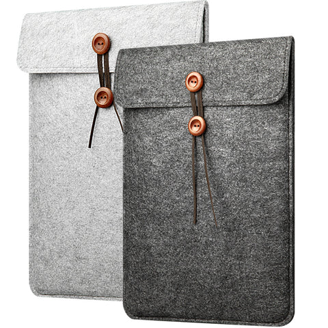 Felt Button Laptop Sleeve