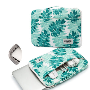 Green Leaves Waterproof Laptop Sleeve