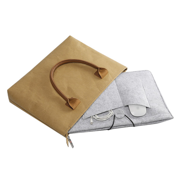 Kraft Dismountable Laptop Sleeve Bag Set