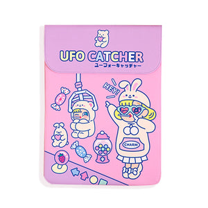 Lovely Pink UFO Catcher Laptop Sleeve Desktop Organizers kiniyo stationary 4147p