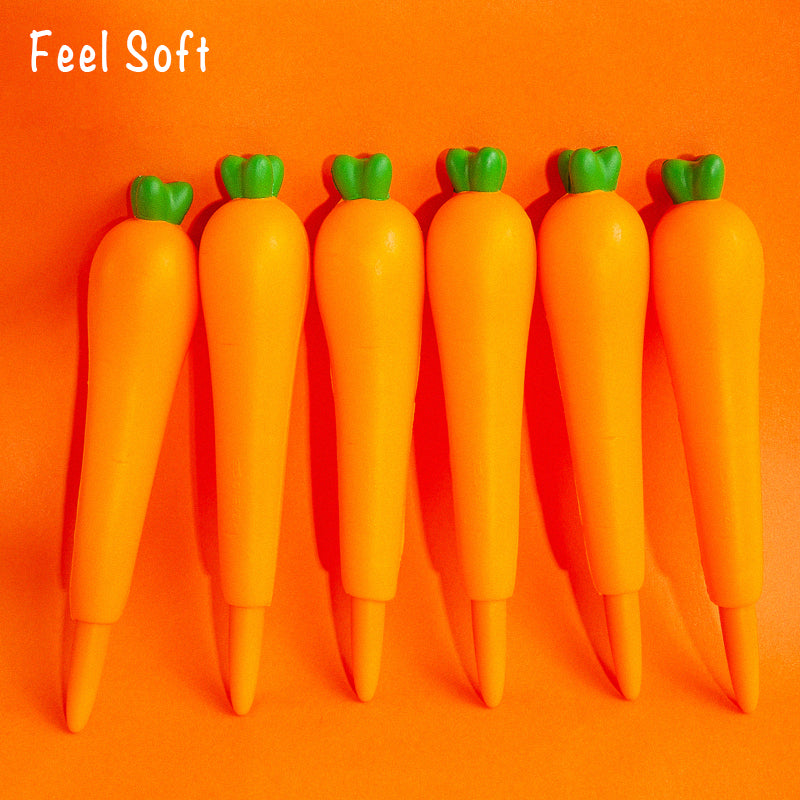 0.5mm Soft and Porous Carrot Gel Pen KINIYO Stationery