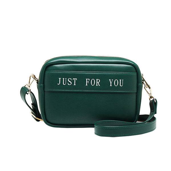 PU Pure Color Just For You Shoulder Bag+green