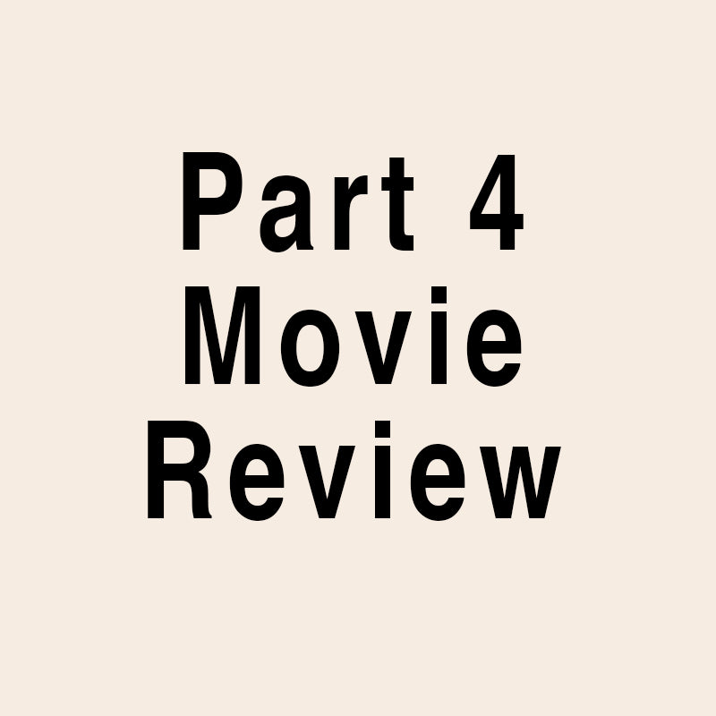 Part 4 Movie Review Wood Stamp