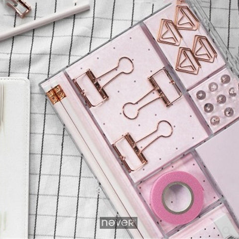 Rose Gold 8 Products Stationery Set+stationary1