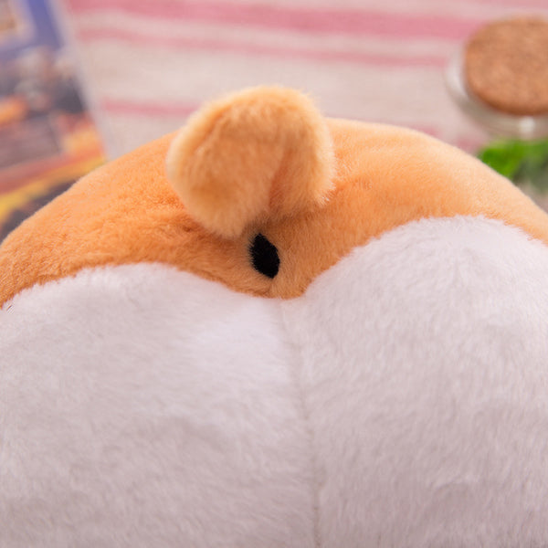 Furry Soft Cartoon Corgi Ass Coin Purse/Shoulder Bag Canvas Bag kiniyo stationary 3778p