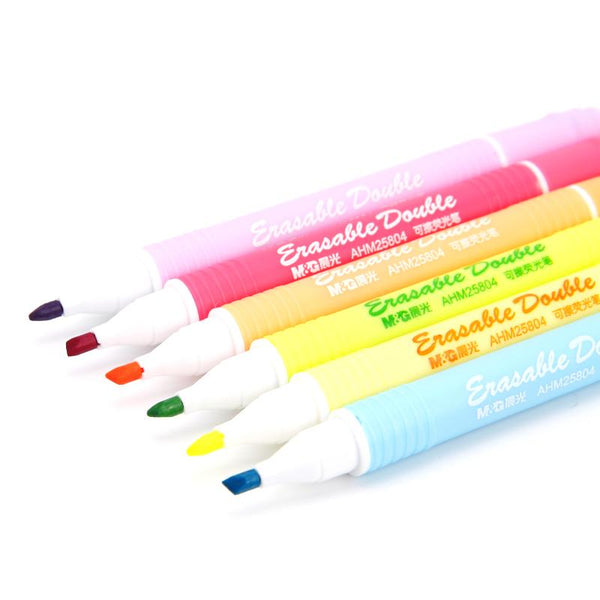 6pcs Erasable Highlighters