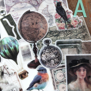 55pcs Tim Holtz Style Paper Sticker KINIYO Stationery