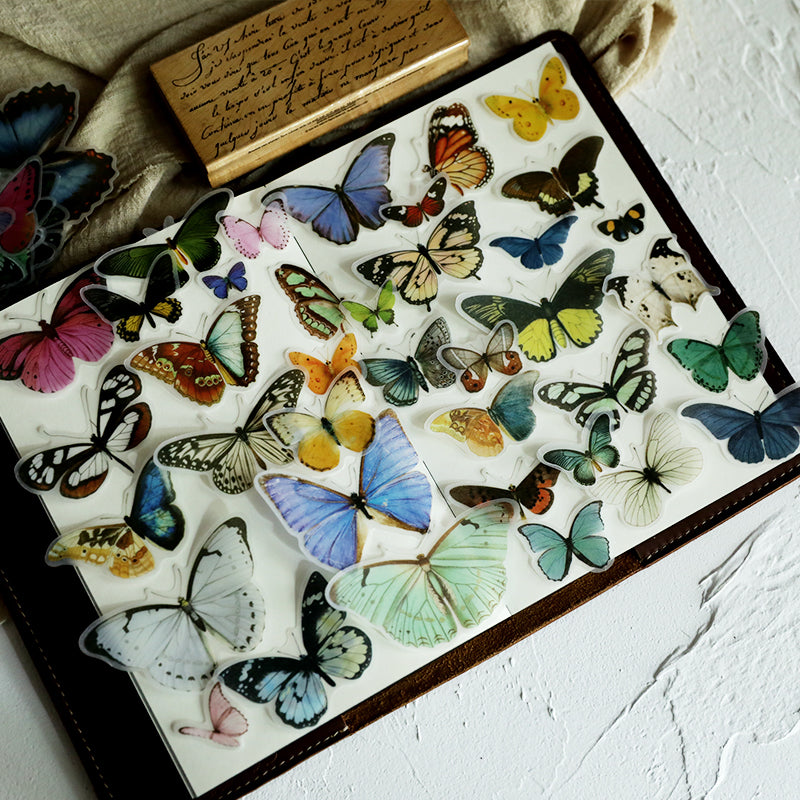 80pcs Butterfly Sticker Set