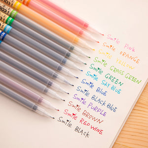 12/24/36pcs Fiber Pen Point Watercolor Pens KINIYO Stationery