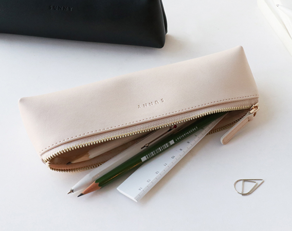 1 Piece Portable Leather Pen Pencil Case KINIYO Stationery