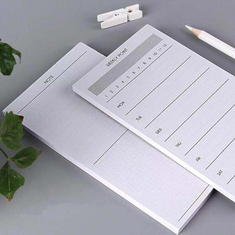 1 Piece Simple Daily/Weekly Plan Writing Pad KINIYO Stationery