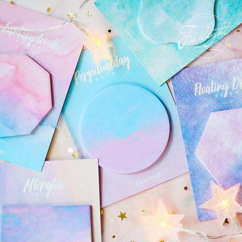 5pcs Dreamlike Colorful Sticky Notes