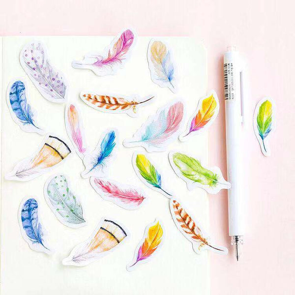 45pcs Feather Stickers KINIYO Stationery