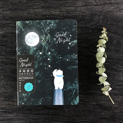 1 Piece Night Luminous Bear DIY Notebook KINIYO Stationery