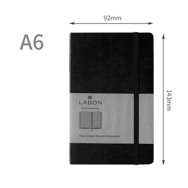 1 Piece A6 Business Leather Journal Notebook with Matching Placeholder Ribbon