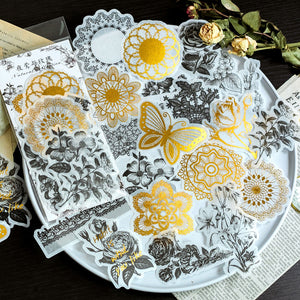 60pcs Gold-Stamped Sticker Set