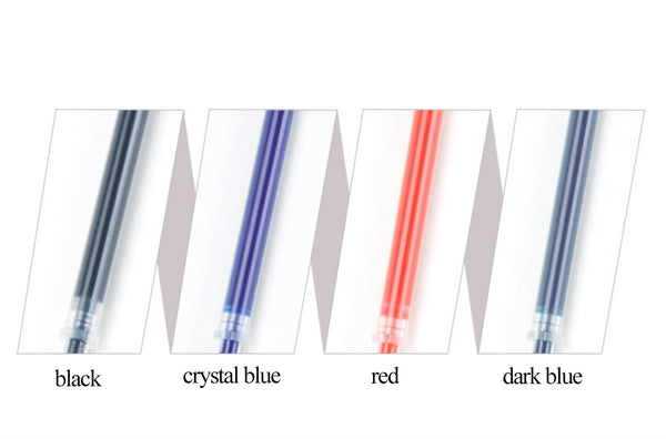 12pcs 0.5mm 4 Colors Gel Pen Refills